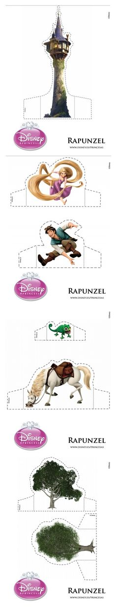 Disney Princess Repunzel's: Print Out and Cut, Castle Template- [ Little Blue Bow ]♡ www.facebook.com/littlebluebowevents