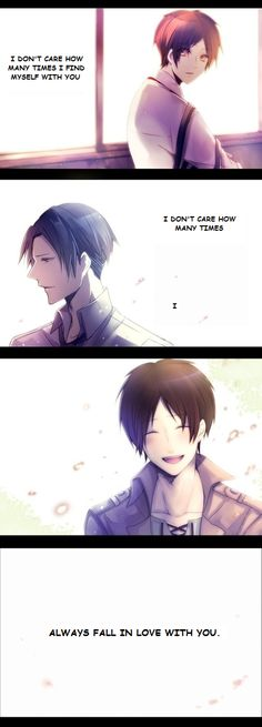 Fall for you ~ Levi x Eren