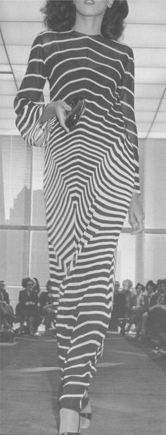 Stripes (Halston Caftan)