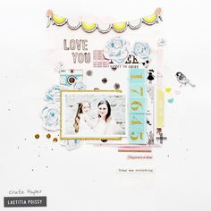 Comfort Zones: Adding Color and Texture (Crate Paper) Crate Paper, Mini Albums, Layout Inspiration, Scrapbook Pages, Scrapbooking Layouts, Comfort Zone, Crates, Blog, Love You