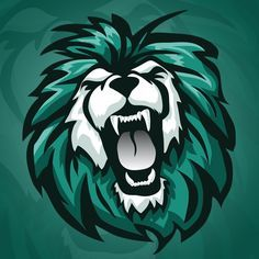 Roaring Lion vector mascot logo by mystcART