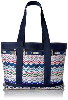LeSportsac Classic Medium Travel Tote, Dimple Blue