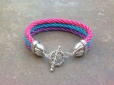 Waxed cord kumihimo bracelet