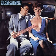 Banned Album Covers Scorpions - Lovedrive (1979) Already familiar with cover art controversy (see following entry), German heavy metal act Scorpions once again got the censors' attention with the cover of their 1979 album Lovedrive, which featured a formally dressed couple in a pose where the man's hand was connected to the women's exposed breast by a wad of bubble gum
