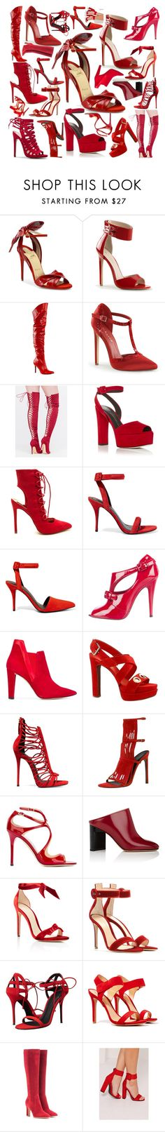 """""""Sexy Red Shoes"""" by denibrad ❤ liked on Polyvore featuring Christian Louboutin, Pleaser, Giuseppe Zanotti, Alexander Wang, Casadei, Jean-Michel Cazabat, Louis Vuitton, Gucci, Jimmy Choo and Maison Margiela"""