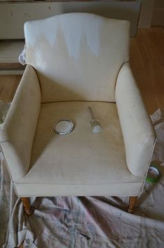 Painting a Vinyl Upholstered Chair - Sew a Fine Seam