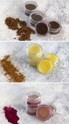 Avoid unreadable ingredients and make your own DIY lip balms at home with natural ingredients. Lip Gloss Homemade, Diy Lip Gloss, Organic Lip Balm, Natural Lip Balm, Diy Lip Balm, Diy Lip Scrub, Chapstick Lip Balm, Diy Lipstick, Beeswax Lip Balm