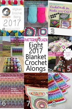 Join one of these fabulous 2017 Blanket Crochet Alongs! A choice between temperature blankets, flower, granny square and textured.