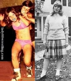 Vintage Teen 50s Schoolgirl Mixed Wrestling Sister vs Brother Pictures