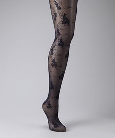 Take a look at this Navy Blue Rose Tights by Philippe Matignon on #zulily today!................ I want these :D