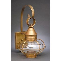 Northeast Lantern Onion 1 Light Outdoor Wall Lantern Finish: Antique Copper, Shade Type: Frosted