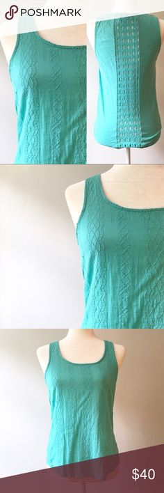 Lucky Brand Turquoise Lattice Tank Top in Small 🎁Offers welcome                                           🔑Bundle to save                                             👍Like for price drop notifications                 EUC Lucky Brand Turquoise color tank top with light stitching along the front and lattice detailing along the back. True to size. 100% cotton. Lucky Brand Tops Tank Tops