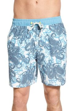 Sperry Top-Sider 'Sucker for You' Print Swim Trunks available at #Nordstrom