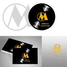 Logo design pack for a record company.  Logó dizájn csomag egy lemezkiadó cégnek.💽🎶🎵   #logo#design#webdesign#graphicdesign#illustraitor#photoshop#adobe#art#music#record