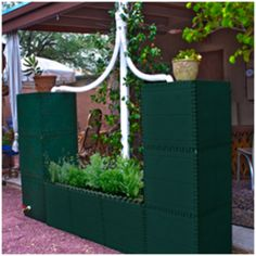 Build a Barrel-its a raised garden, no, its a wall, no, its a bench, NO, its Build-a-Barrel!! Each cube holds 25 gallons of nutrient rich rainwater and the designs and size is only limited by your imagination!!