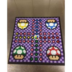 Mario ludo board game perler beads by artbyfredd