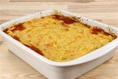 Bagt kartoffelmos med kødsauce  4