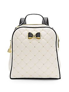 Faux leather backpack: $43