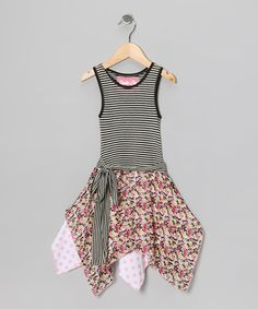 Take a look at this Black Rachel Handkerchief Dress - Toddler & Girls by Wonder Me on #zulily today!