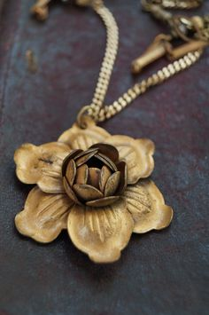 Vintage Rose Brooch Necklace - Welcome to Vault 31 Jewelry Designs
