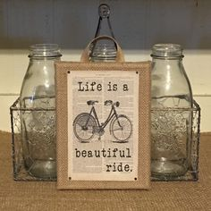 A personal favorite from my Etsy shop https://www.etsy.com/listing/292380995/life-is-a-beautiful-ridevintage