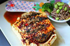 Tofu stuffed with toasted sesame, almonds, sorrel and chili « Deena Kakaya Vegetarian Recipes & Cooking Deena Kakaya Vegetarian Recipes & Co...