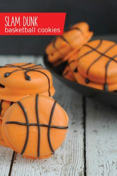These basketball-themed cookies don't lie when they say they'll be a slam dunk. Check out the full dessert recipe to see how easy they are to make as well!