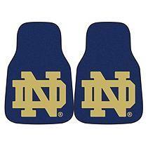 NCAA - Notre Dame 2-pc Carpet Car Mat Set