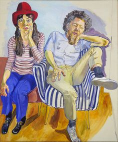 "Alice Neel (American, 1900–1984), ""Benny and Mary Ellen Andrews,"" 1972. Oil on canvas, 60 x 50"" (152.2 x 127 cm)."