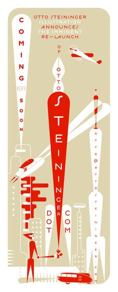 Design by Otto Steininger. Coming very soon: the re-launch of www.ottosteininge... Featuring a Citroën DS and a Dymaxion Car