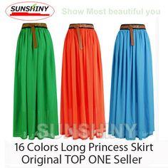 Оригинальные 20 цветов 2014 Новый Отлично чешские юбки , мода длинные Princess плиссированные юбки женщин высокого качества Maxi юбка AS- 8 473,04 - 836,91