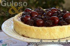 Receita de Cheesecake de Ricota com Calda de Cerejas