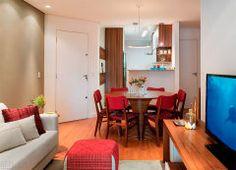 Apartamento de 69m² para morar, trabalhar e receber os amigos.