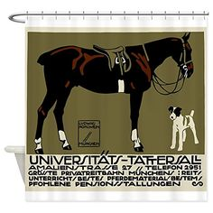 CafePress  1912 Ludwig Hohlwein Horse Riding Poster Art Showe  Decorative Fabric Shower Curtain * For more information, visit image link.