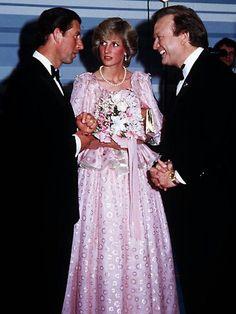 Prince Charles and Princess Diana with Bert Newton