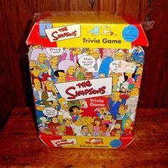 Simpsons Trivia Game NEW Sealed Collectible Tin Box Cast Poster Inside Cardinal #CardinalIndustries