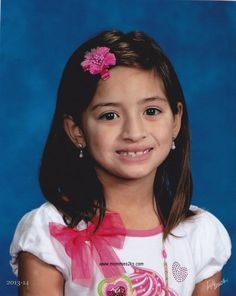 My little girl's 2nd grade school picture