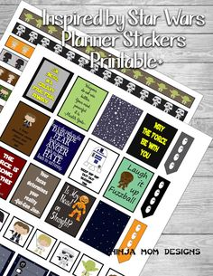 Gyah - usually only pin planner freebies but it's Star Wars ! Inspired by Star Wars Sticker Printable 2 PAGES by NinjaMomDesigns