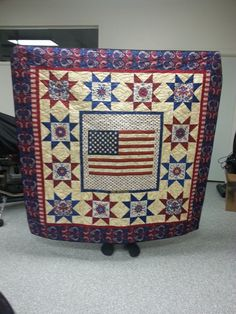 This quilt is for Billy Warneke's grandfather Harry and was made by Michelle M. out of Oregon!