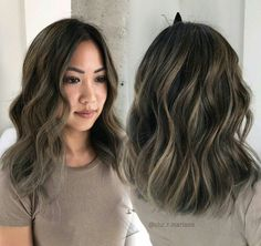 Ash brown bayalage highlights - Looking for Hair Extensions to refresh your hair look instantly? @KingHair focus on offering premium quality remy clip in hair.