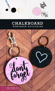 Chalkboard Reminder Keychain | Clever way to help remember what you need to do when out and about! www.CraftaholicsAnonymous.net