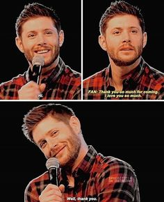 JJ makes that face all the time, and now I see where she gets it! Jensen Ackles Supernatural, Supernatural Bloopers, Supernatural Tattoo, Supernatural Quotes, Supernatural Fandom, Jensen Ackles Tattoo, Supernatural Wallpaper, Sherlock Quotes, Castiel