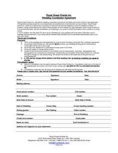 sample contracts for event planners Google Search Event planing