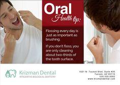Visit our website http://www.krizmandental.com/ for more oral health tips and information.  #DentistTucson #BiologicalDentistTucson