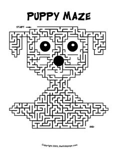 puppy maze activity sheet free coloring pages for kids printable colouring sheets - Baby Shower Monkey Coloring Pages