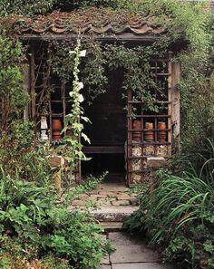 Romantic garden shed