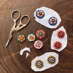 Bead Embroidery Jewelry, Textile Jewelry, Fabric Jewelry, Beaded Embroidery, Jewellery, Fabric Earrings, Fabric Beads, Diy Earrings, Handmade Jewelry Designs