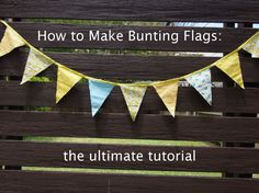 how to make fabric flags