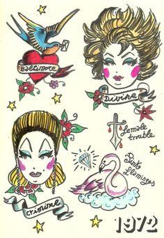John Waters Tattoo kit. Divine forever <3