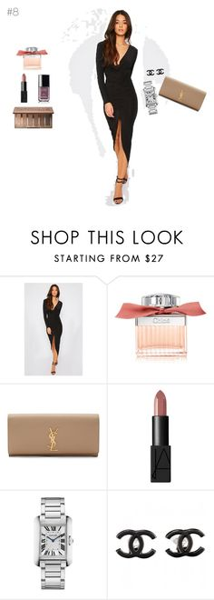 """Girls night out"" by maries on Polyvore featuring Chloé, Yves Saint Laurent, NARS Cosmetics, Cartier, Chanel and Urban Decay"